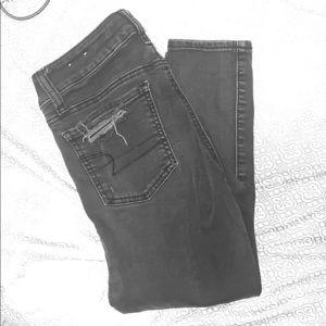 Black destroyed American Eagle jeans